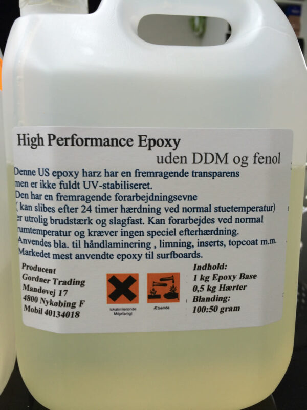 Lamineringsepoxy uden DDM og Fenol